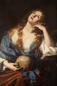 Maria Magdalena z długimi blond włosami