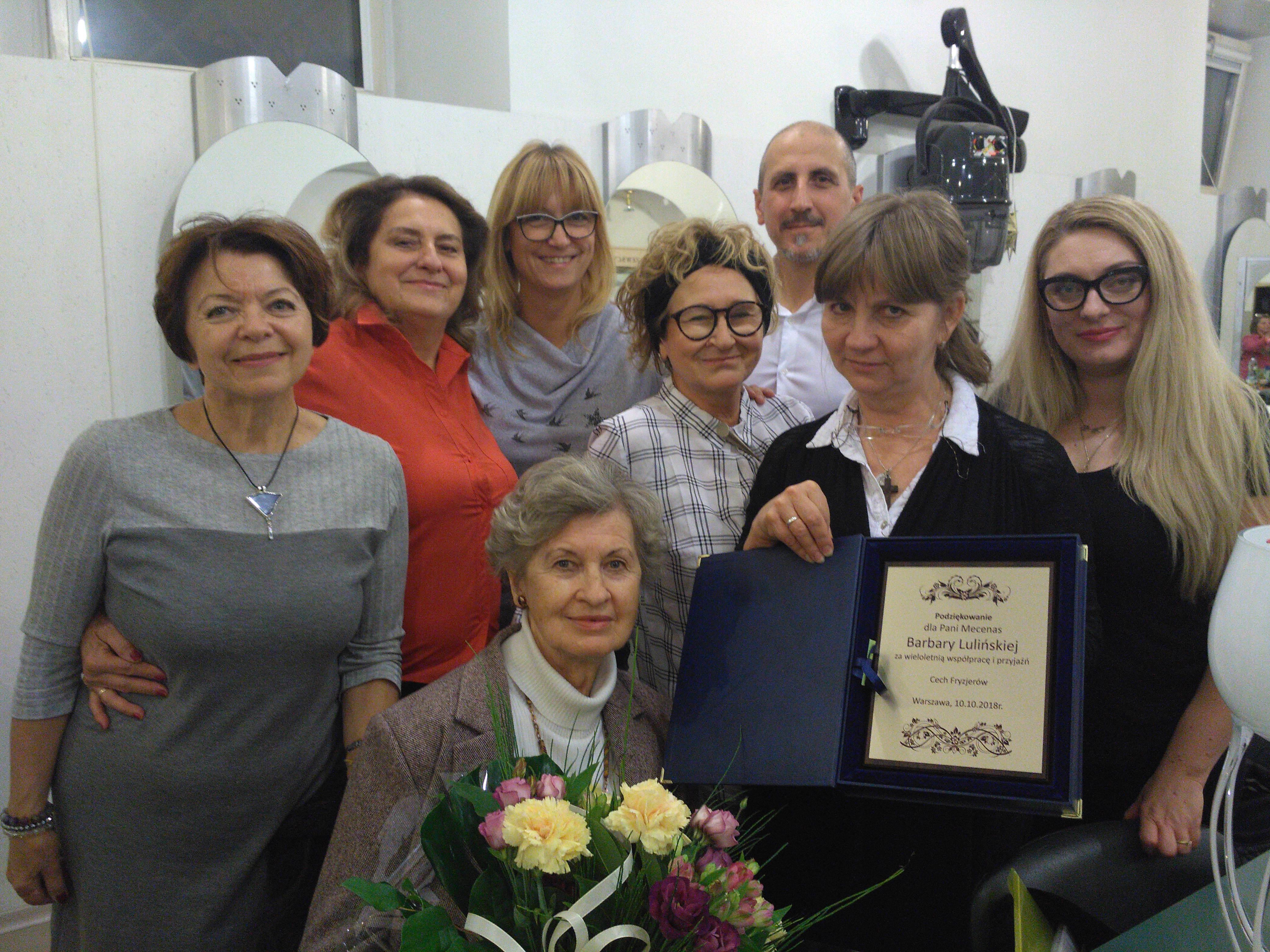 podziękowanie za wieloletnią współpracę Pani Mecenas Lulińskiej